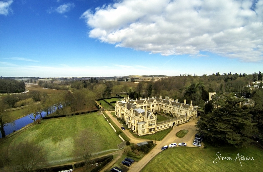 rushton hall aerial photograph